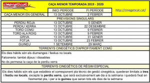 quadre resum ordre de vedes 2019 - 2020