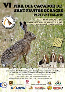 cartell fira caça sant fruitós de bages 2019