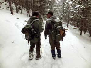 caçadors a la neu. Foto Daniel Olivera